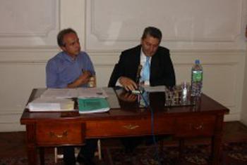 Monsieur Nikos Prantzos et Monsieur Georges Lilikas