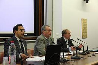 De gauche à droite M Christophe Chaillou, M Alain Fremont et M Pierre Pougnaud